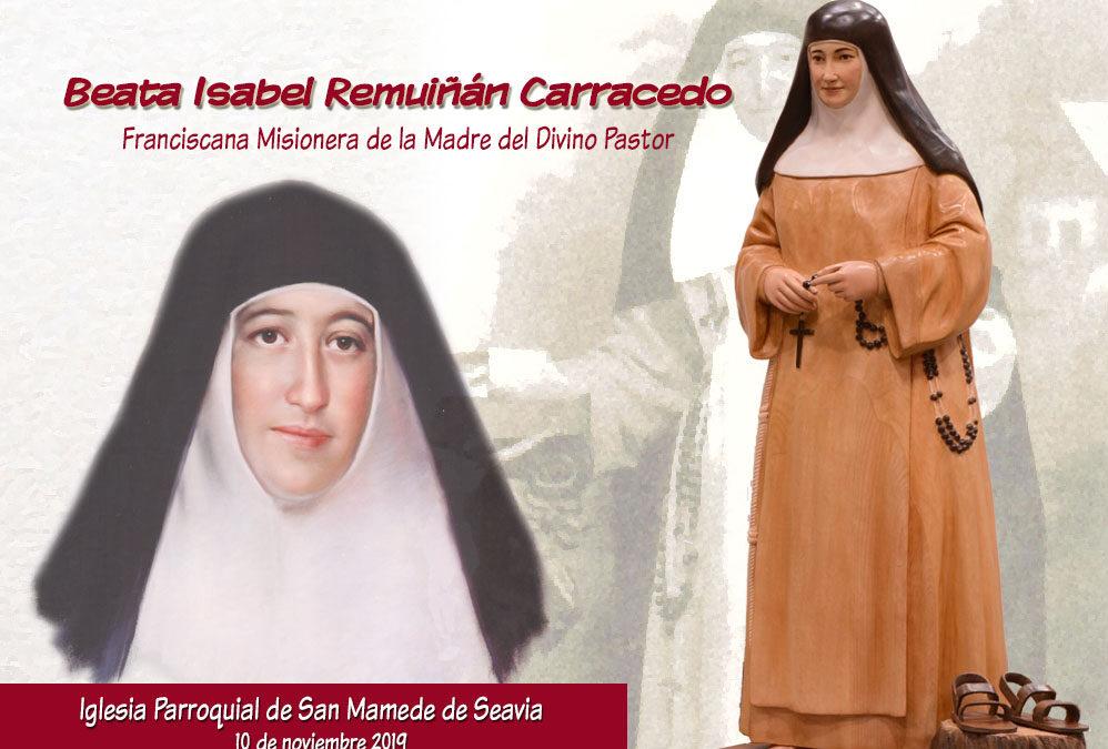Coristanco honra a la beata Isabel con una imagen en Seavia