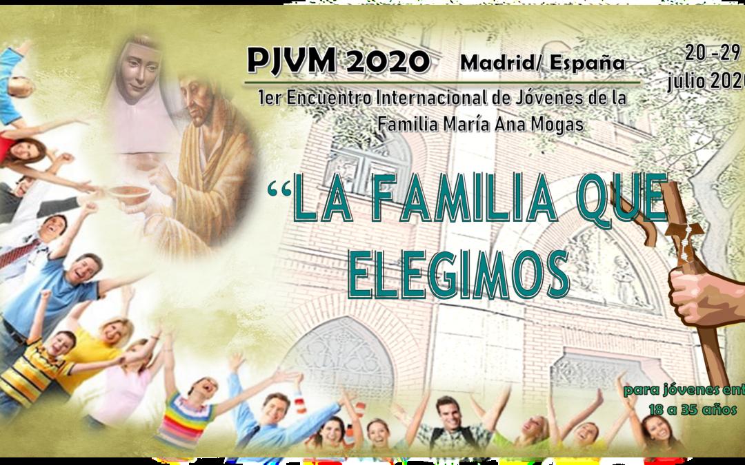 Aplazado el Encuentro Internacional de Jóvenes de la Familia de María Ana Mogas