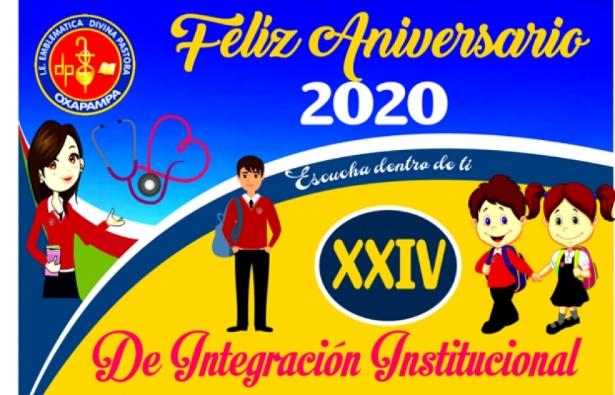 """XXIV Aniversario de Integración Institucional  del Colegio """"Divina Pastora"""" de Oxapampa"""
