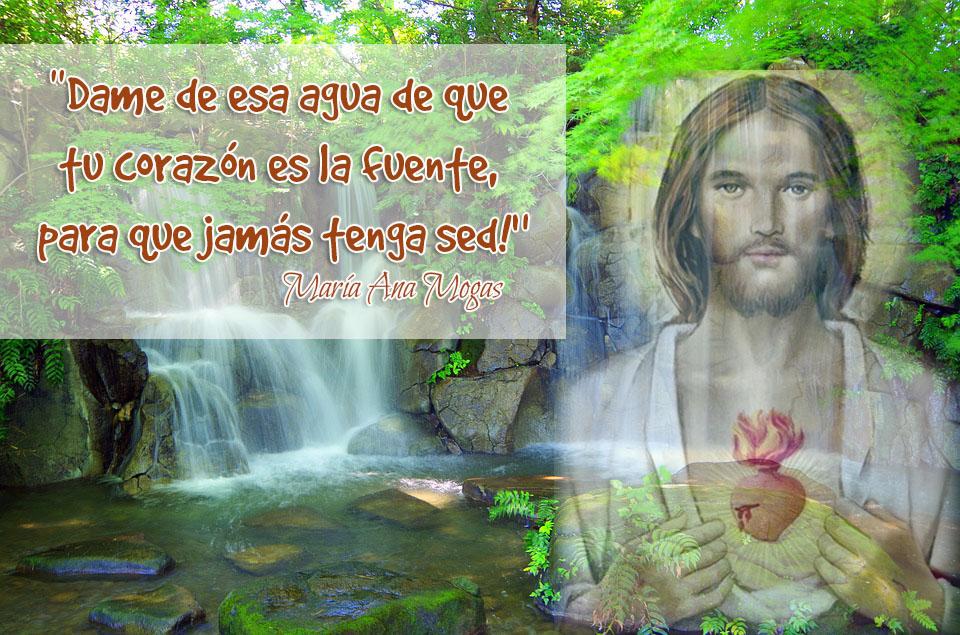 María Ana y el Sagrado Corazón de Jesús
